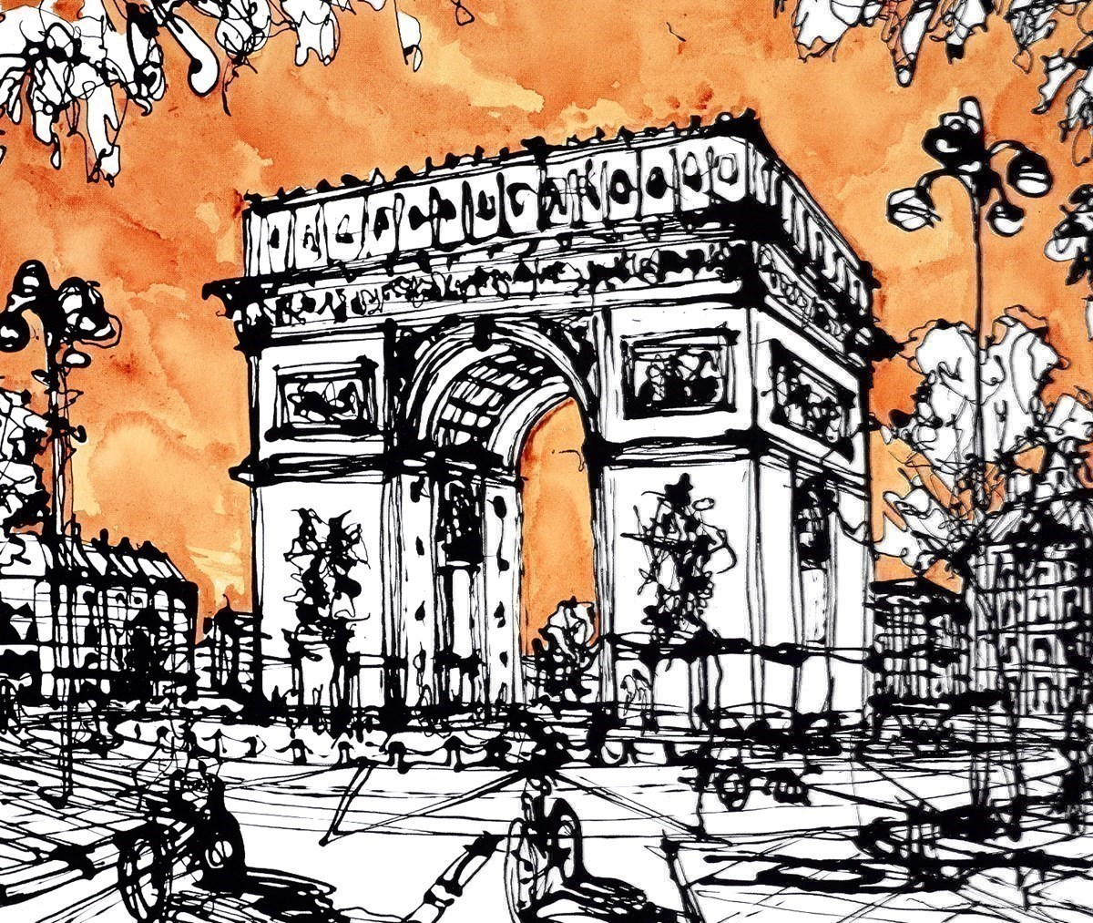 Avenue Marceau at the Arc by Ingo -  sized 24x20 inches. Available from Whitewall Galleries